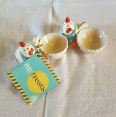 Easter Hen Egg Cups x 2 Novelty Made in China for Myer VGC Children