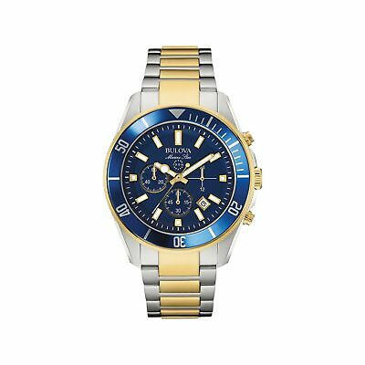 Bulova Men's 43mm Marine Star Two-Tone Chronograph Bracelet Watch Two Tone
