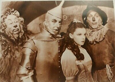 The Wizard of Oz – Lion, Tin Man, Dorothy, Scarecrow – Postcard/Fotocard - 1989