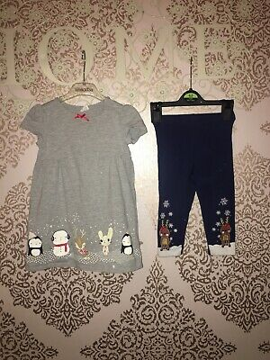H & M Baby Girls Christmas Outfit Age 12-18 Months VGC cute Next P&p