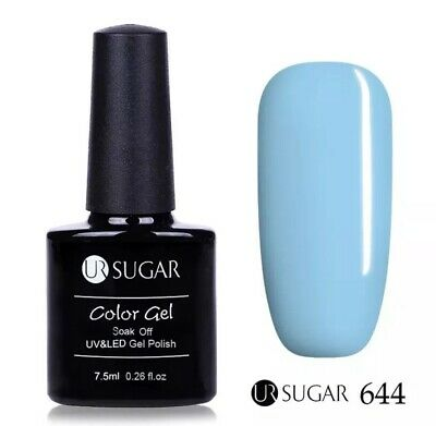 Esmalte Permanente UR SUGAR GEL POLISH SOAK OFF Oferta Color Azul Claro 7,5ml❄️