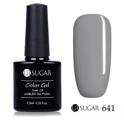 💅🏼 Esmalte Permanente UR SUGAR GEL POLISH SOAK OFF Oferta Color Gris 7,5ml 🌪