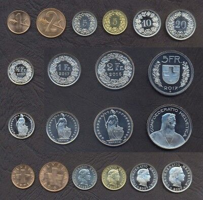 40 Coins 10 RAPPEN FREE SHIPPING Old Switzerland Coin Lot