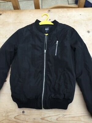 New Look 915 black satin bomber jacket age 12-13 years VGC