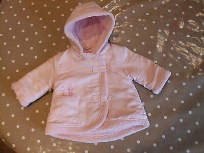 Z aged 3 - 6 months baby girls hooded coat jacket by little bundle Winter