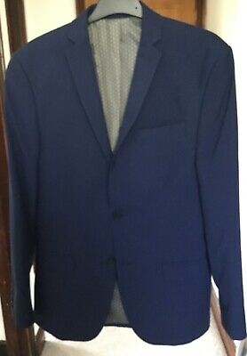 Blue suit,38s jacket, 36r waistcoat, trs 30s. Limehaus. Used and dry cleaned.