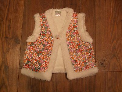 Z. Baby Girls Floral Gilet Faux Fur Lining +Trim Age 18 - 23 Months Smart CASUAL