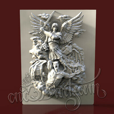 3D Model STL for CNC Router Artcam Aspire Religion Arhangel Panel Cut3D Vcarve