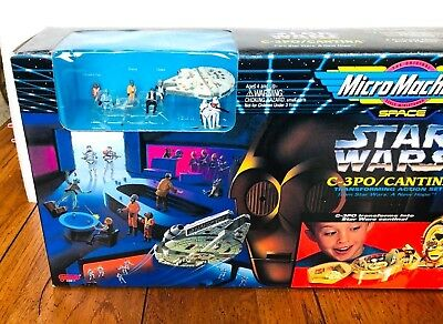 1994 Micro Machines Star Wars C-3PO/Cantina Action Set - New In Box