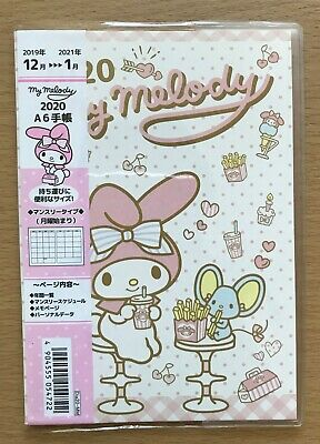 My Melody  Monthly Planner Schedule Diary Notebook 2020 size A6