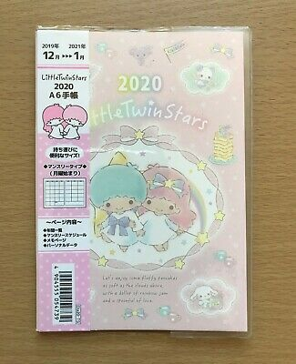 Little Twin Stars Monthly Planner Schedule Diary Notebook 2020 size A6