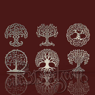3D Model STL CNC Router Artcam Aspire Celtic Family Amulet Trees Cut3D Vcarve