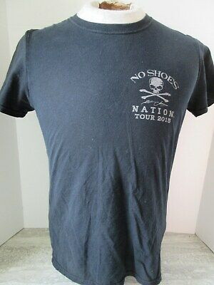 2015 Kenny Chesney No Shoes Nation Concert Tour T-Shirt Size Small
