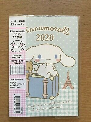 Cinnamoroll Monthly Planner Schedule Diary Notebook 2020 size A6
