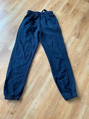 Marks And Spencer Girls / Boys Navy Jogging Trousers Age 8 - 9 Years School/ PE