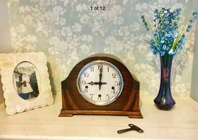 Antique/vintage Art Deco Smiths Enfield Westminster Chime Clock