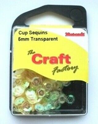 JOB LOT of 50 Packs of Sequins - Transparent Yellow Cup 5mm New