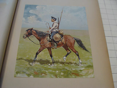 vintage print from 1894: A RUSSIAN COSSACK by FREDERIC REMINGTON