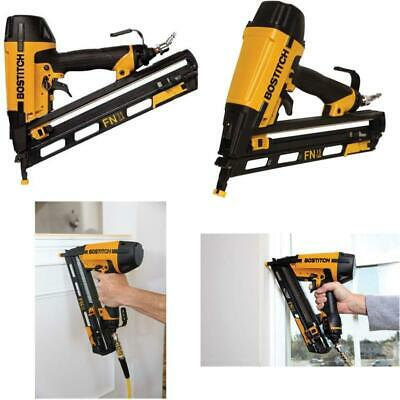 BOSTITCH N62FNK-2 15-Gauge 1 1//4-Inch to 2-1//2-Inch Angled Finish Nailer