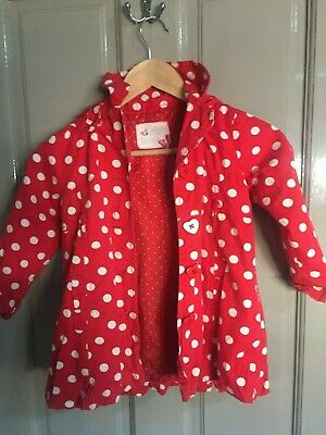 Sweet Millie red spotty girls jacket 4 years
