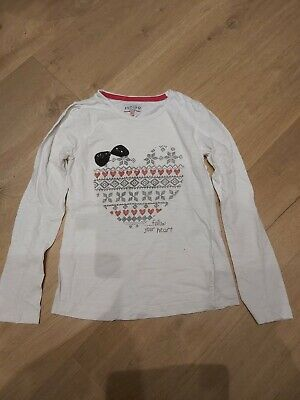 Marks And Spencer Age 10-11 Years Girls Christmas/Winter Long Sleeve T-Shirt