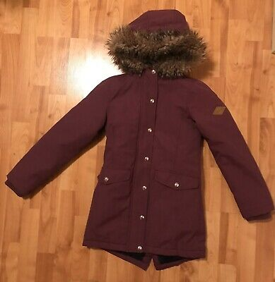 Girls Plum Purple Joules Girls Winter Padded Coat Age 9-10 Years 134-140cm