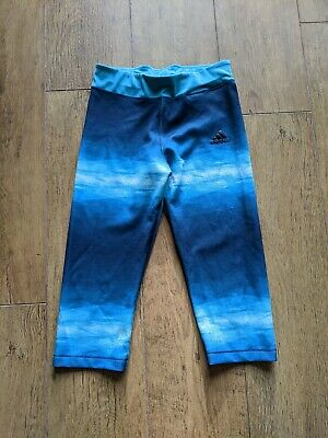 Girls Adidas sports crop leggings Age 13-14 Years - size L - worn once