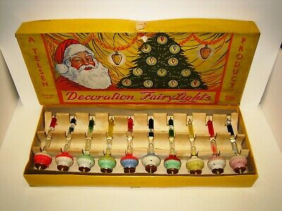 Telsen UK Christmas Bubble Lights Complete Set Extremely Rare Working