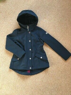 Girls Michael Kors Navy Coat with fleece lining and hood Age 7-8 - excellent Con