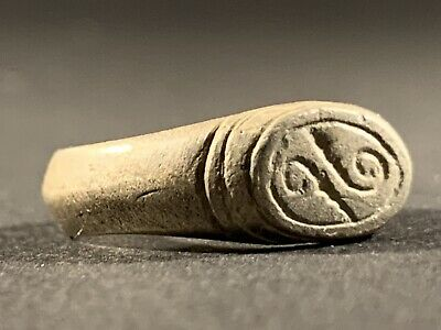Highly Detailed Ancient Roman Military Legionary Silver Ring Circa. 100 - 400 Ad