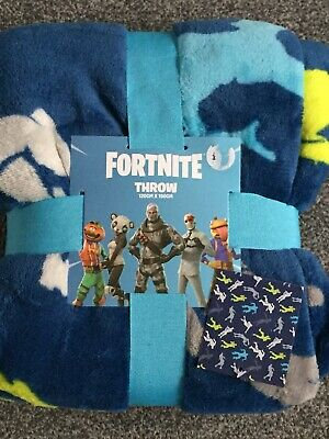 Fortnite Soft Fleece Throw Blanket Flossing Dance 120cm x 150cm Primark Home