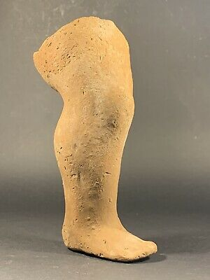 Ancient Roman Terracotta Leg From Statue Of Cupid - God Of Love Circa. 100-300Ad
