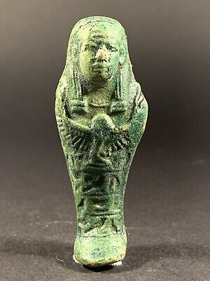 Lovely Ancient Egyptian Faience Ushabti Shabti - Circa. 600-300Bce
