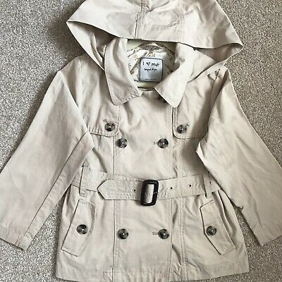 NEXT Girls Beige Belted Raincoat / Mac, Age 5
