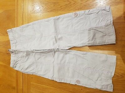 Cherokee Light Combat Trousers Pink Stitching- 3-4 years - Combined P&P Offered