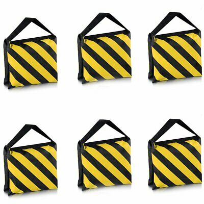 Neewer® 6pack black/yellow dual grip sand bags for photography studios
