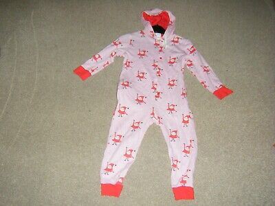 Girls Pink Christmas One Piece Sleep Suit Age 6-8 Years from The Hut.Com