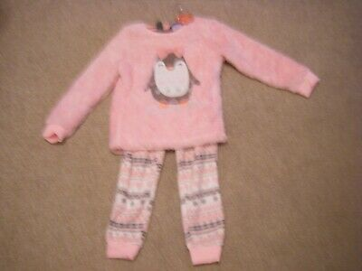 Girls Pink Fleecy Pyjamas Age 6-7 Years from George