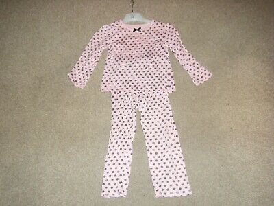 Girls Pink Long Sleeved Pyjamas Age 4-5 Years from George