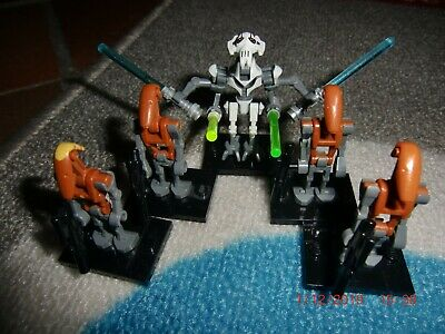 Lego Star Wars Figuren General Grivous plus 4 Kampfdroiden Rocket Battle Droid