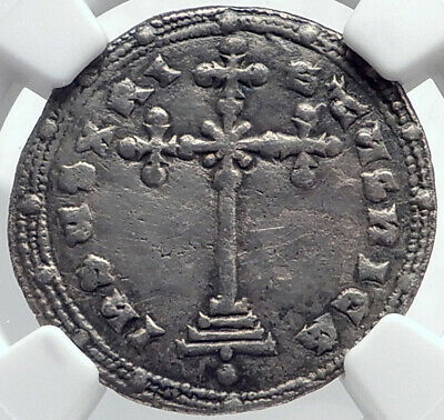 CONSTANTINE VII & ROMANUS II 945AD Silver Miliaresion Byzantine Coin NGC i81755