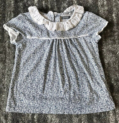 Next Girls Age 4-5 Blue Ditsy Floral Top