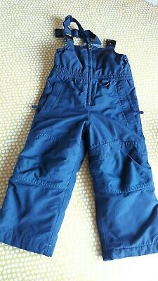Land's End Nave Blue 3-4 Salopettes Warm Waterproof Trousers