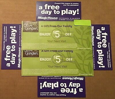 St. Louis Children's Museum, The Magic House, (4) passes, & Olive Garden too.