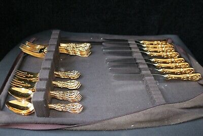 Rare Vermeil Gold & Sterling Silver 8 Person Setting Reed & Barton Francis1st
