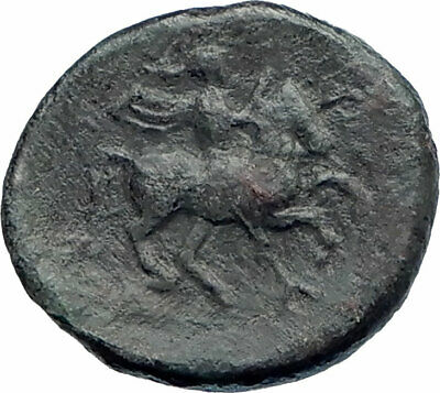 PHALANNA in THESSALY Authentic Ancient 325BC Roman Coin w MAN on HORSE i74900
