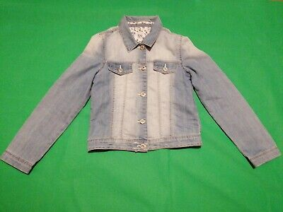 Girls 10 - 11 Years light Blue Denim Jacket Nutmeg Excellent Condition