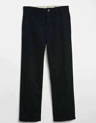 GAP Kids Relaxed Khakis in Stretch navy size 10 SLIM Boys Chino Pants 794856