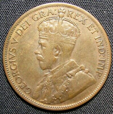 1917 Canada 1 Large Cent Copper Coin
