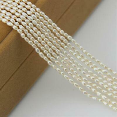 1pcs 2-3mm White Baroque Pearl Loose Beads 15.5inch Making Gifts Classic
